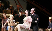 L^ELISIR D^AMORE   by Donizetti   conductor: Mikko Franck   director: Laurent Pelly <br>,Aleksandra Kurzak (Adina), Ludovic Tezier (Belcore)   ,The Royal Opera (RO) / Covent Garden   London WC2    13/...