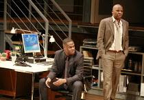 STATEMENT OF REGRET   by Kwame Kwei-Armah   director: Jeremy Herrin <br>,l-r: Javone Prince (Kwaku Mackenzie Jnr), , Don Warrington (Kwaku Mackenzie),Cottesloe Theatre / National Theatre (NT), London...