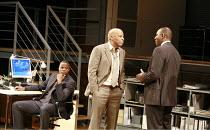 STATEMENT OF REGRET   by Kwame Kwei-Armah   director: Jeremy Herrin <br>,l-r: Javone Prince (Kwaku Mackenzie Jnr), , Don Warrington (Kwaku Mackenzie), Colin McFarlane (Michael Akinbola),Cottesloe Thea...