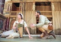 AS YOU LIKE IT   by Shakespeare   design: Bunny Christie   director: Lucy Bailey <br>,Belinda Davison (Phebe), Guy Moore (Silvius),Shakespeare^s Globe (SG), London SE1    20/05/1998              ,