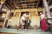 AS YOU LIKE IT   by Shakespeare   design: Bunny Christie   director: Lucy Bailey <br>,left: David Rintoul (Duke Senior)   front centre: Anastasia Hille (Rosalind), Paul Hilton (Orlando)   right: Belin...