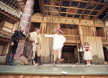 AS YOU LIKE IT   by Shakespeare   design: Bunny Christie   director: Lucy Bailey <br>,l-r: John McEnery (Jaques), David Rintoul (Duke Senior), David Fielder (Touchstone), Jonathan Bond (Oliver), Maggi...