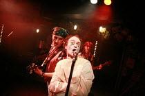 tHe dYsFUnCKshOnalZ!   by Mike Packer   director: Tamara Harvey <br>,l-r: Ralph Brown (Marc Faeces), Rupert Procter (Billy Abortion), Julia Ford (Louise Gash),Bush Theatre, London W12     20/11/2007...