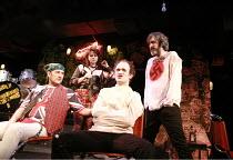 tHe dYsFUnCKshOnalZ!   by Mike Packer   director: Tamara Harvey <br>,l-r: Ralph Brown (Marc Faeces), Julia Ford (Louise Gash), Rupert Procter (Billy Abortion), Pearce Quigley (John Smith),Bush Theatre...
