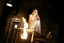 WOMEN OF TROY   by Euripides   from a new version by Don Taylor   set design: Bunny Christie   costume design: Vicki Mortimer   director: Katie Mitchell <br>,Sinead Matthews (Cassandra),Lyttelton Thea...