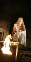 WOMEN OF TROY   by Euripides   from a version by Don Taylor   ,set design: Bunny Christie   costume design: Vicki Mortimer   director: Katie Mitchell <br>,Sinead Matthews (Cassandra),Lyttelton Theatre...