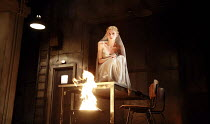 WOMEN OF TROY   by Euripides   from a version by Don Taylor   set design: Bunny Christie   costume design: Vicki Mortimer   director: Katie Mitchell <br>,Sinead Matthews (Cassandra),Lyttelton Theatre...