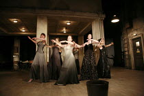 WOMEN OF TROY   by Euripides   from a version by Don Taylor   set design: Bunny Christie   costume design: Vicki Mortimer   director: Katie Mitchell <br>,l-r: Laura Elphinstone (Macaria), Charlotte Ro...