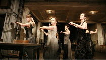 WOMEN OF TROY   by Euripides   from a version by Don Taylor   set design: Bunny Christie   costume design: Vicki Mortimer   director: Katie Mitchell <br>,l-r: Laura Elphinstone (Macaria), Rachel Clark...