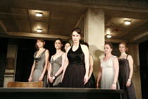 WOMEN OF TROY   by Euripides   from a version by Don Taylor   set design: Bunny Christie   costume design: Vicki Mortimer   director: Katie Mitchell <br>,front centre: Kate Duchene (Hecuba) ,with l-r:...