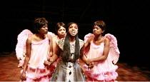 THE MAGIC FLUTE - IMPEMPE YOMLINGO   by Mozart   adapted & directed by Mark Dornford-May <br>,l-r: Noluthando Boqwana (3rd Spirit), Poseletso Sejosingoe (2nd Spirit), Philisa Sibeko (Pamina), Busisiwe...