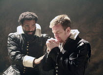 OTHELLO    by Shakespeare   director: Michael Grandage <br>,l-r: Chiwetel Ejiofor (Othello), Ewan McGregor (Iago),Donmar Warehouse / London WC2                 04/12/2007,