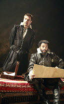OTHELLO    by Shakespeare   director: Michael Grandage <br>,l-r: Ewan McGregor (Iago), Chiwetel Ejiofor (Othello),Donmar Warehouse / London WC2                 04/12/2007,