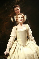 OTHELLO    by Shakespeare   director: Michael Grandage <br>,rear: Michelle Fairley (Emilia)   seated: Kelly Reilly (Desdemona),Donmar Warehouse / London WC2                 04/12/2007,