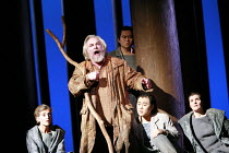 PARSIFAL   by Wagner   conductor: Bernard Haitink   original director: Klaus Michael Gruber <br>,Act I - centre: John Tomlinson (Gurnemanz) ,with Esquires: (left) Rebecca de Pont Davies   rear: Haoyin...