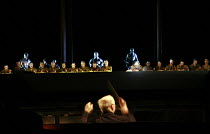 PARSIFAL   by Wagner   conductor: Bernard Haitink   original director: Klaus Michael Gruber <br>,Act I - the castle of the guardians of the Grail centre right: John Tomlinson (Gurnemanz) ,The Royal Op...