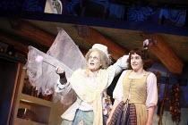 CINDERELLA   by Stephen Fry   music: Anne Dudley   design: Stephen Brimson Lewis   director: Fiona Laird <br>,l-r: Pauline Collins (Fairy Godmother), Madeleine Worrall (Cinderella),Old Vic Theatre (OV...