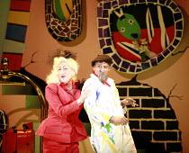 CINDERELLA   book & lyrics: Trish Cooke   music & lyrics: Robert Hyman   director: Kerry Michael <br>,l-r: Michael Bertenshaw (Woz Mine-Izzmine), Royce Ullah (Baron Pierre Sans Rien),Theatre Royal, St...