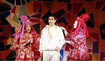 CINDERELLA   book & lyrics: Trish Cooke   music & lyrics: Robert Hyman   director: Kerry Michael <br>,l-r: Sharona Sassoon (Sugary), Kyl Messios (Prince Leo), Catherine Millsom (Spicy),Theatre Royal,...