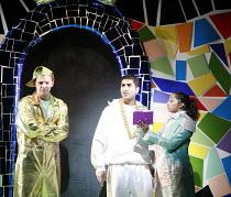 CINDERELLA   book & lyrics: Trish Cooke   music & lyrics: Robert Hyman   director: Kerry Michael <br>,l-r: Marcus Ellard (Don Dini), Kyl Messios (Prince Leo),Theatre Royal, Stratford E15...