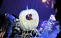 CINDERELLA   book & lyrics: Trish Cooke   music & lyrics: Robert Hyman   director: Kerry Michael <br>,off to the ball in her coach drawn by mice: Debbie Korley (Cinderella),Theatre Royal, Stratford E1...
