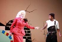 CINDERELLA   book & lyrics: Trish Cooke   music & lyrics: Robert Hyman   director: Kerry Michael <br>,l-r: Michael Bertenshaw (Woz Mine-Izzmine), Darren Hart (Buttons),Theatre Royal, Stratford E15...
