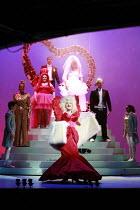 CINDERELLA   book & lyrics: Trish Cooke   music & lyrics: Robert Hyman   director: Kerry Michael <br>,front centre: Michael Bertenshaw (Woz Mine-Izzmine - the panto Dame),Theatre Royal, Stratford E15...
