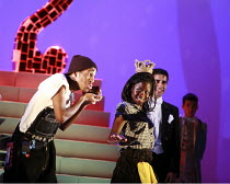 CINDERELLA   book & lyrics: Trish Cooke   music & lyrics: Robert Hyman   director: Kerry Michael <br>,Darren Hart (Buttons), Debbie Korley (Cinderella),Theatre Royal, Stratford E15...
