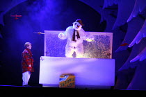 THE SNOWMAN   based on the story by Raymond Briggs   music & lyrics: Howard Blake   design: Ruari Murchison   director: Bill Alexander <br>,Aedan Day (The Boy) with the Snowman ,Birmingham Repertory T...