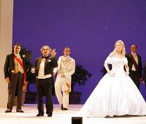 LA CENERENTOLA   (CINDERELLA)   by Rossini   ,conductor: Evelino Pido   set design: Christian Fenouillat   costume design: Agostino Cavalca   directors: Moshe Leiser & Patrice Caurier <br>,from left,...