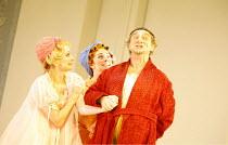 LA CENERENTOLA   (CINDERELLA)   by Rossini   ,conductor: Evelino Pido   set design: Christian Fenouillat   costume design: Agostino Cavalca   directors: Moshe Leiser & Patrice Caurier <br>,l-r: Leah-M...