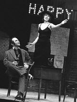 HAPPY END   music: Kurt Weill   book: Dorothy Lane   lyrics: Bertolt Brecht   director: Gordon McDougall <br>,Bob Hoskins (Bill Cracker), Angela Richards (Lieutenant Lillian Holliday),Lyric Theatre, L...
