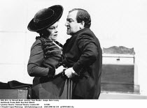 THE SEA   by Edward Bond   director: Sam Mendes   design: Bob Crowley,Judi Dench (Louise Rafi), Ken Stott (Hatch),Lyttelton Theatre / National Theatre, London SE1          12/1991          ,