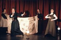 THE SEA   by Edward Bond   director: Sam Mendes   design: Bob Crowley,front left: Ellie Haddington (Mafanwy Price)   right: Judi Dench (Louise Rafi),Lyttelton Theatre / National Theatre, London SE1...