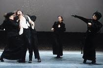 THE SEA   by Edward Bond   director: Sam Mendes   design: Bob Crowley,at left, restrained: Ken Stott (Hatch)   right: Judi Dench (Louise Rafi),Lyttelton Theatre / National Theatre, London SE1...