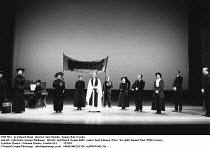 THE SEA   by Edward Bond   director: Sam Mendes   design: Bob Crowley,2nd left: Celia Imrie (Jessica Tilehouse)   4th left: Judi Dench (Louise Rafi)   centre: Karl Johnson (Vica)   far right: Samuel W...