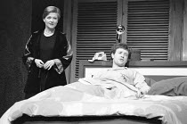 BEDROOM FARCE   by Alan Ayckbourn   directors: Alan Ayckbourn & Peter Hall <br>,Polly Adams (Jan), Michael Kitchen (Nick),Lyttelton Theatre / National Theatre (NT), London SE1     16/03/1977  ,