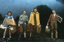 BLOOD BROTHERS  book, music & lyrics by Willy Russell  design: Andy Greenfield  lighting: Jimmy Simmons  directed by Chris Bond & Danny Hiller ~~3rd left: Barbara Dickson (Mrs Johnstone / Mother)  rig...