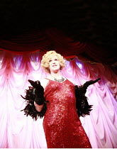 LA CAGE AUX FOLLES   music: Jerry Herman   book: Harvey Fierstein   based on the play by Jean Poiret   director: Terry Johnson <br>,centre: Douglas Hodge (Albin),Menier Chocolate Factory / London SE1...