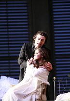 LA TRAVIATA   by Verdi   conductor: Maurizio Benini   ,design: Bob Crowley   lighting: Jean Kalman   director: Richard Eyre <br>,Act III: Anna Netrebko (Violetta Valery),  Jonas Kaufmann (Alfredo Germ...