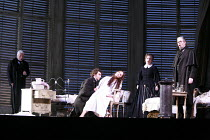 LA TRAVIATA   by Verdi   conductor: Maurizio Benini   design: Bob Crowley   lighting: Jean Kalman   director: Richard Eyre <br>,Act III- l-r: Dimitri Hvorostovsky (Giorgio Germont), Jonas Kaufmann (Al...