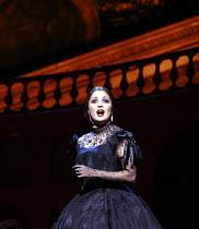 LA TRAVIATA   by Verdi   conductor: Maurizio Benini   ,design: Bob Crowley   lighting: Jean Kalman   director: Richard Eyre <br>,Act II scene ii : Anna Netrebko (Violetta Val�ry)   ,The Royal Opera /...