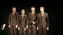 ANGRY YOUNG MAN   written & directed by Ben Woolf <br>,l-r: Gary Shelford, Alex Waldmann, Hywel John, Hugh Skinner,Trafalgar Studios 2, London SW1                    14/01/2008  ,