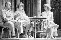 JOKING APART   by Alan Ayckbourn   set design: Alan Tagg   costumes: Lindy Hemming   director: Alan Ayckbourn <br>,l-r: Robert Austin (Sven), Jennifer Piercey (Olive), Alison Steadman (Anthea),Globe T...