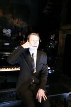 MERRILY WE ROLL ALONG   music & lyrics: Stephen Sondheim   book: George Furth   director: John Doyle <br>,Sam Kenyon (Frank),The Watermill (West Berkshire Playhouse) nr. Newbury / England   21/08/2008...