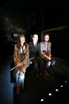 MERRILY WE ROLL ALONG   music & lyrics: Stephen Sondheim   book: George Furth   director: John Doyle <br>,l-r: Elizabeth Marsh (Mary), Sam Kenyon (Frank), Thomas Padden (Charley),The Watermill (West B...