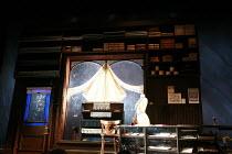THE SEA   by Edward Bond   design: Paul Brown   director: Jonathan Kent <br>,Hatch^s shop interior / set design,Theatre Royal Haymarket Company / Theatre Royal Haymarket (TRH), London SW1   23/01/2008...