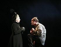 THE SEA   by Edward Bond   design: Paul Brown   director: Jonathan Kent <br>,Eileen Atkins (Louise Rafi), David Haig (Hatch)   ,Theatre Royal Haymarket Company / Theatre Royal Haymarket (TRH), London...
