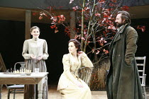 UNCLE VANYA   by Anton Chekhov   translated by Stephen Mulrine   design: Alison Chitty   lighting: Peter Mumford   director: Peter Hall <br>,l-r: Loo Brealey (Sonya), Michelle Dockery (Yelena), Neil P...