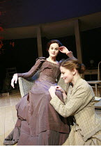 UNCLE VANYA   by Anton Chekhov   translated by Stephen Mulrine   design: Alison Chitty   ,lighting: Peter Mumford   director: Peter Hall <br>,l-r: Michelle Dockery (Yelena), Loo Brealey (Sonya),Englis...